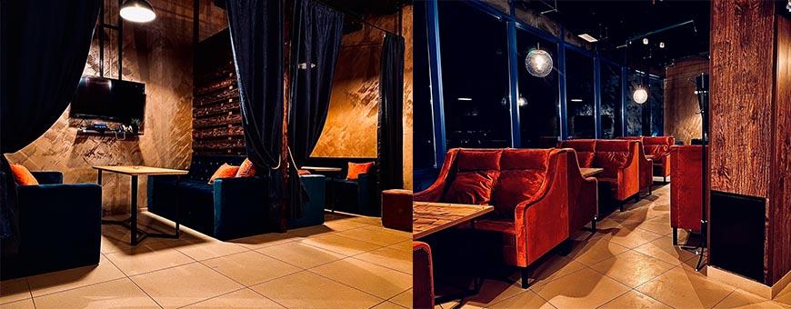 Интерьер кальянной Kot Lounge bar